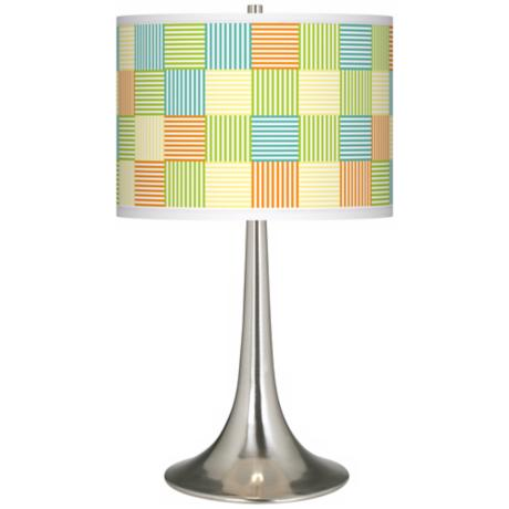 Pixel Light Giclee Trumpet Table Lamp
