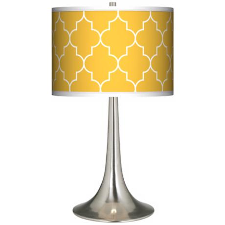 Tangier Yellow Giclee Trumpet Table Lamp