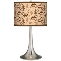 Fall Breeze Giclee Trumpet Table Lamp