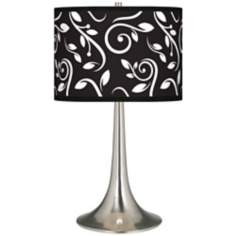 Swirling Vines Giclee Trumpet Table Lamp