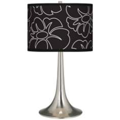 Summer Silhouette Giclee Trumpet Table Lamp