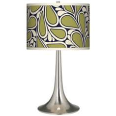 Stacy Garcia Rain Metal Giclee Trumpet Table Lamp