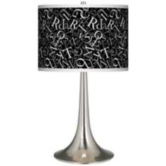 Alphasoup Grayscale Giclee Trumpet Table Lamp