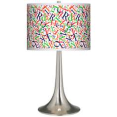 Alphasoup Primary Giclee Trumpet Table Lamp