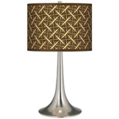 Tan Wailia Giclee Trumpet Table Lamp