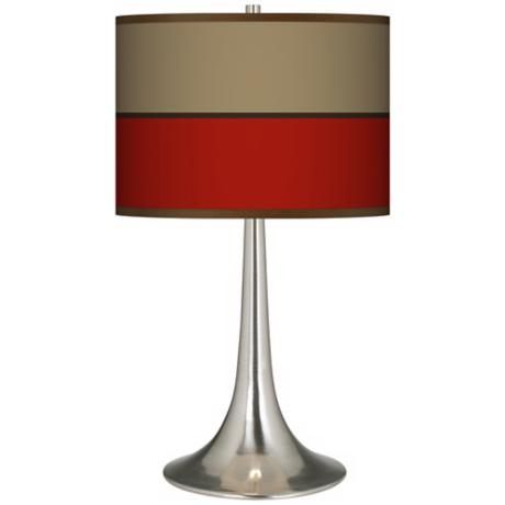 Empire Red Giclee Trumpet Table Lamp