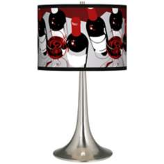 Vintage Giclee Trumpet Table Lamp