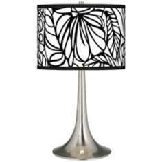 Jungle Moon Giclee Trumpet Table Lamp