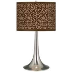 Safari Leopard Giclee Trumpet Table Lamp