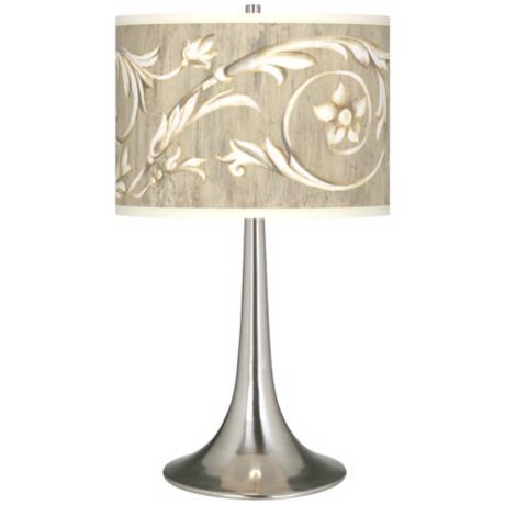Laurel Court Giclee Trumpet Table Lamp