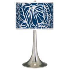 Jungle Rain Giclee Trumpet Table Lamp