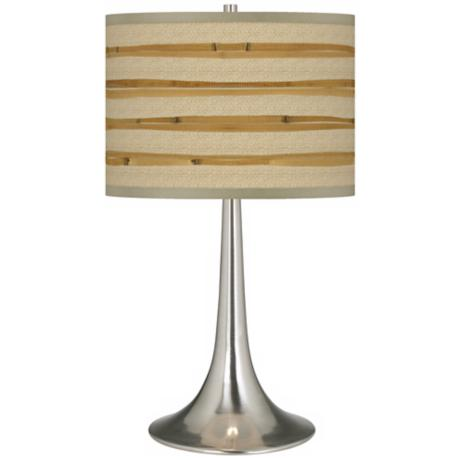 Bamboo Wrap Giclee Trumpet Table Lamp