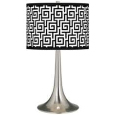 Greek Key Giclee Trumpet Table Lamp