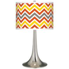 Flame Zig Zag Giclee Trumpet Table Lamp