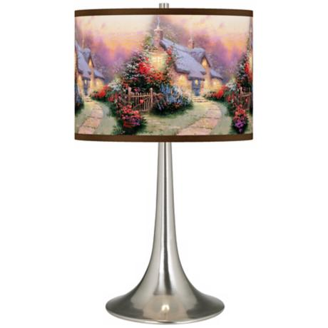Thomas Kinkade Glory of Evening Trumpet Table Lamp