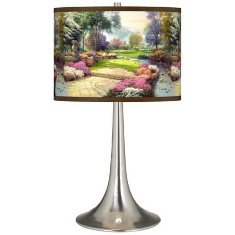 Thomas Kinkade Living Waters Golfer's Paradise Table Lamp