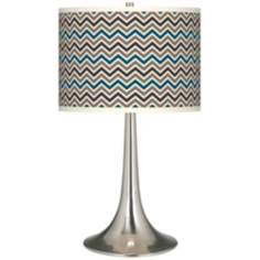 Zig Zag Giclee Trumpet Table Lamp