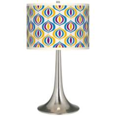 Scatter Giclee Trumpet Table Lamp