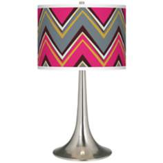 Stacy Garcia Chevron Pride Pink Giclee Trumpet Table Lamp