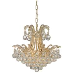 "Vienna Full Spectrum Palais Gold Crystal 18"" Wide Chandelier"