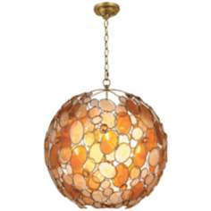 "Crystorama Palla Collection Earth Tone 21"" Wide Chandelier"