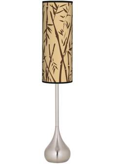 Earth Bamboo Giclee Teardrop Torchiere Floor Lamp