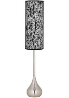 Stacy Garcia Seafan Black Giclee Teardrop Torchiere Floor Lamp