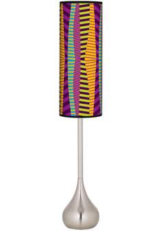 Mambo Giclee Teardrop Torchiere Floor Lamp