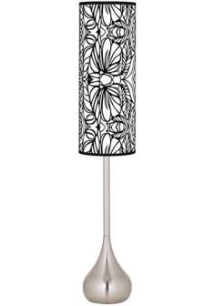 Jungle Moon Giclee Teardrop Torchiere Floor Lamp