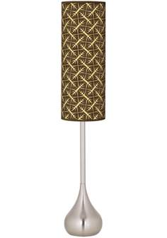 Tan Wailia Giclee Teardrop Torchiere Floor Lamp