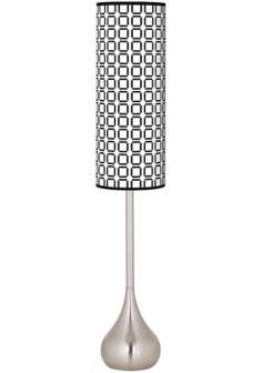 Open Grid Giclee Teardrop Torchiere Floor Lamp