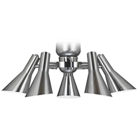 Retro Brushed Nickel 5 Light Ceiling Fan Light Kit