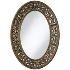 "Uttermost Francesco 36"" High Oval Wall Mirror"