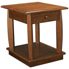 Ascend Rectangular Single Drawer End Table