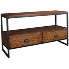"Baja Distressed Finish 54"" Wide Entertainment Console"