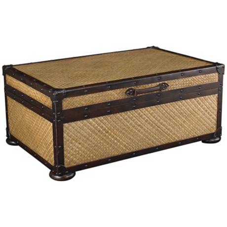 Steamer trunk coffee table.