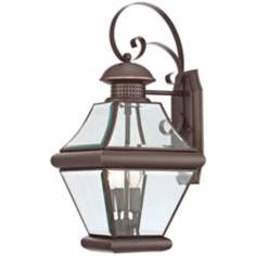 "Quoizel Rutledge Bronze 19"" High Outdoor Wall Light"