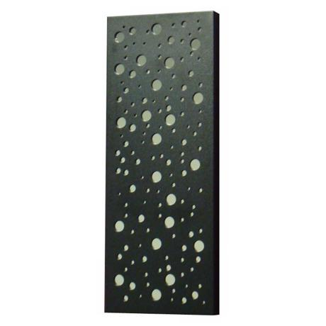 "Rectangular Mirrored Circles 21"" High Wall Mirror"