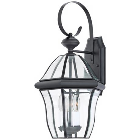 "Quoizel Sussex Black Finish 21"" High Outdoor Wall Light"