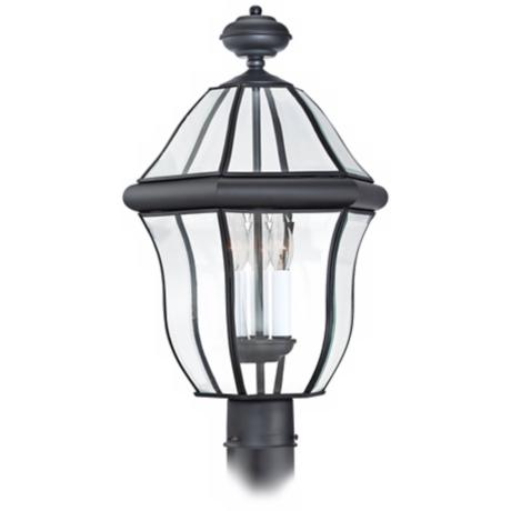 "Quoizel Sussex Black 21"" High Outdoor Post Light"