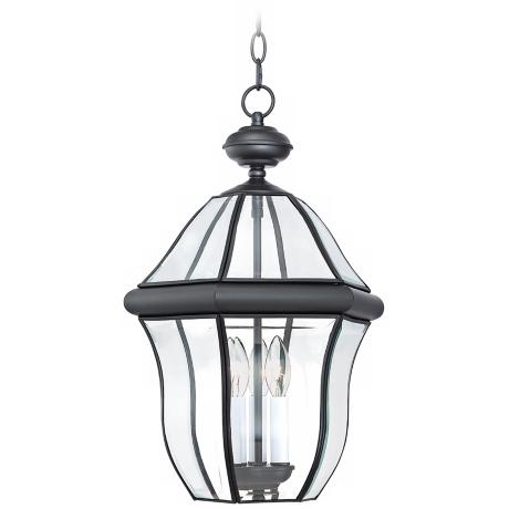 "Quoizel Sussex Black 20 1/2"" High Outdoor Hanging Light"