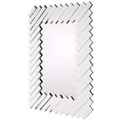 "Gentry Diagonal Accents 43"" High Wall Mirror"