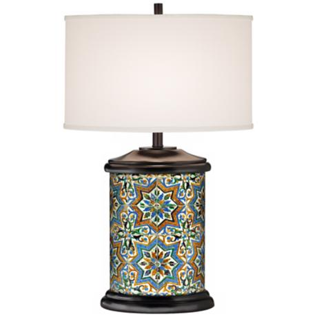 San Vicente Giclee Art Base Table Lamp