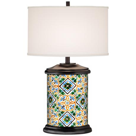 Zaragoza II Giclee Art Base Table Lamp