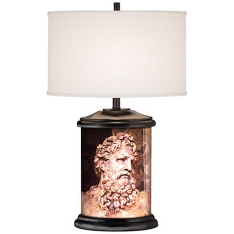 Zeus Giclee Art Base Table Lamp