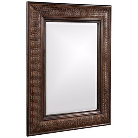 "Grant Textured Copper 39"" High Wall Mirror"