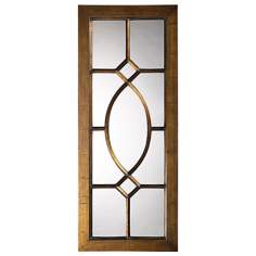 "Dayton Bronze Window 53"" High Wall Mirror"