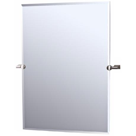 "Gatco Satin Nickel Bleu 32"" High Tilting Wall Mirror"