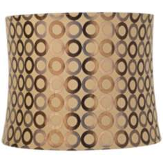 Copper Circles Drum Lamp Shade 13x14x11 (Spider)