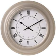 "Silver Finish 10 5/8"" Round Wall Clock"